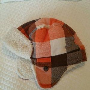 Baby trapper hat fleece lined